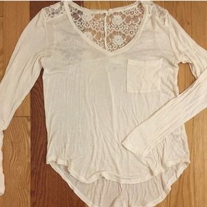 Belle Du Jour long sleeve shirt with lace back